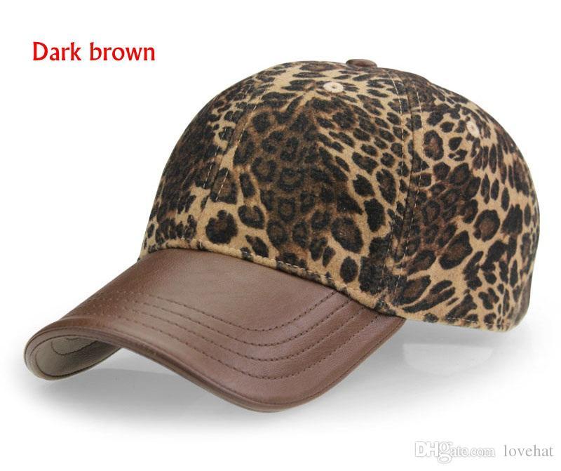AUBREYRENE alta qualità 2017 nuovo disegno del leopardo berretto da baseball moda donna cappelli invernali per le donne Golf Polo Hat