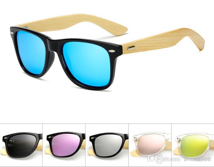 Eyewear UV400 Éblouissements Lunettes de soleil polarisées Vélo Full Bamboo Lunettes de soleil Cadre rétro 17Couleurs à la mode Cyclisme Cyclisme Googles B642 LSBVC