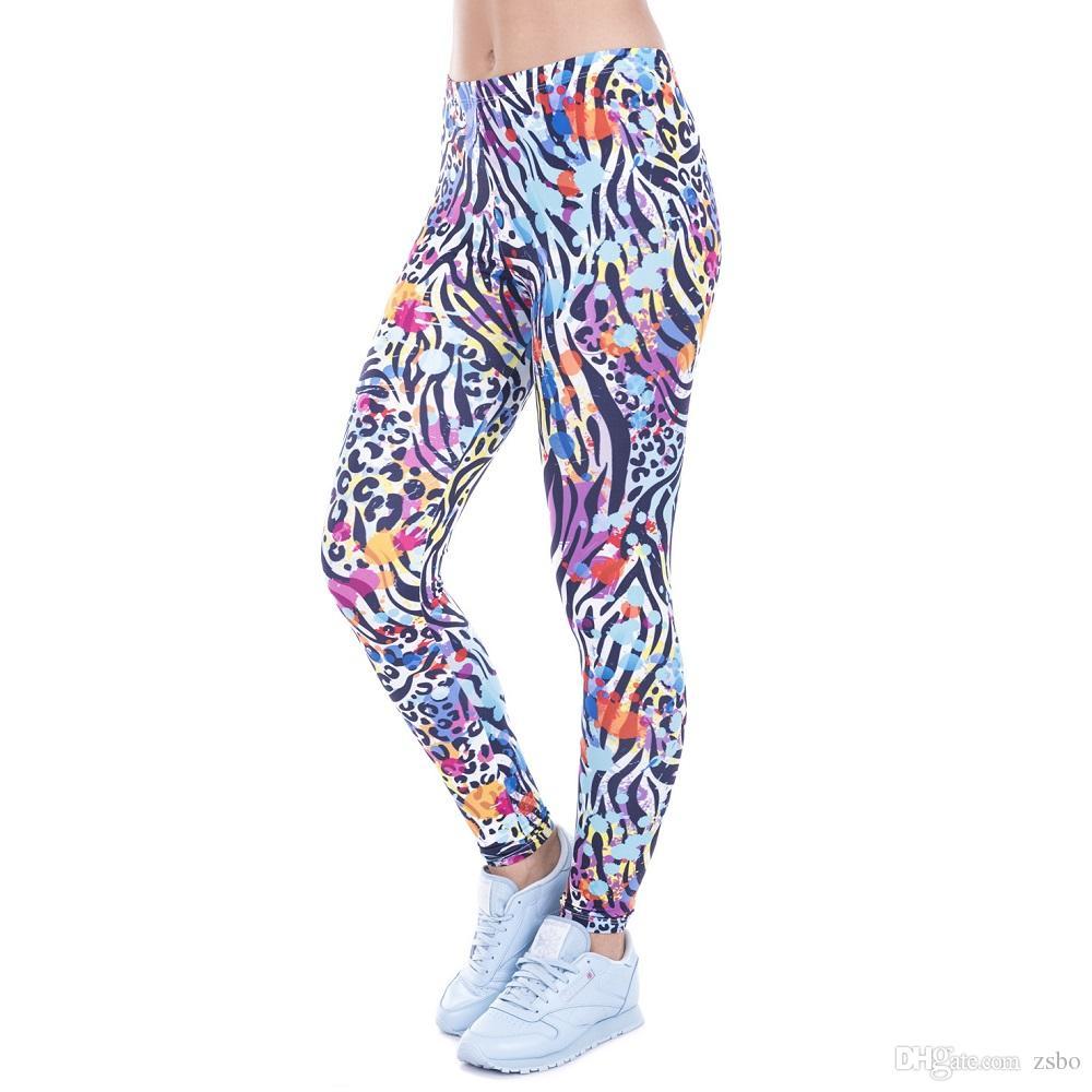 Женская сексуальная мода красочные брюки капри Спорт тощий эластичный облегающие эластичный Slim Fit фитнес карандаш объекты брюки DDK8 FP03 РФ