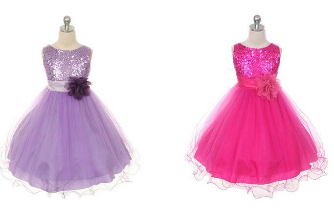 Yeni Varış Krep Çiçek Kız Elbise Prenses Parti Pageant Communion Elbise Küçük Kızlar Çocuklar için / Çocuk Düğün için Elbise