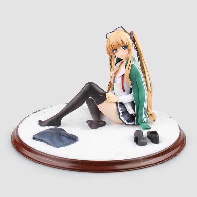 Hot anime japonais héroïne sexy pvc action figure belle bas noirs ver. figurine pour jouet de collection de figurines figma