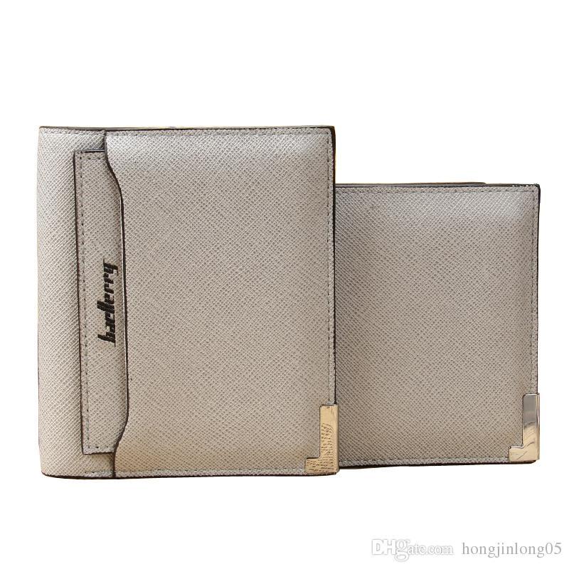 패션 새로운 남자 지갑 두꺼운 패턴 모바일 문서 교차 세로 스타일 4 색 품질 PU 가죽 카드 홀더 지갑 지갑
