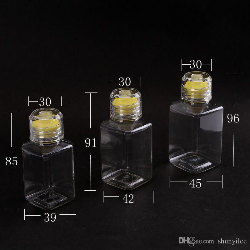 100 ml Kosmetische Wasser Quadrat Flasche Make-Up Ätherisches Öl Parfüm Nachfüllbarer Behälter Kunststoff Klar flasche