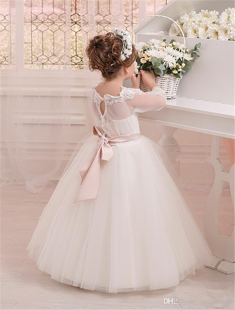 brand new outlet for sale best shoes High End Gown Flower Girl Dress Little Girls Pageant Dresses Wedding Dress  Beading Cheap Flower Girl Dresses Under 50 Clearance Flower Girl Dresses ...