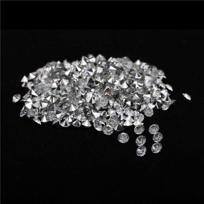 7200 adet / torba 4mm Gümüş Kaplama Bankası Temizle Kristal Rhinestones DIY Düğün Dekor Için Strass Pointback Rhinestone