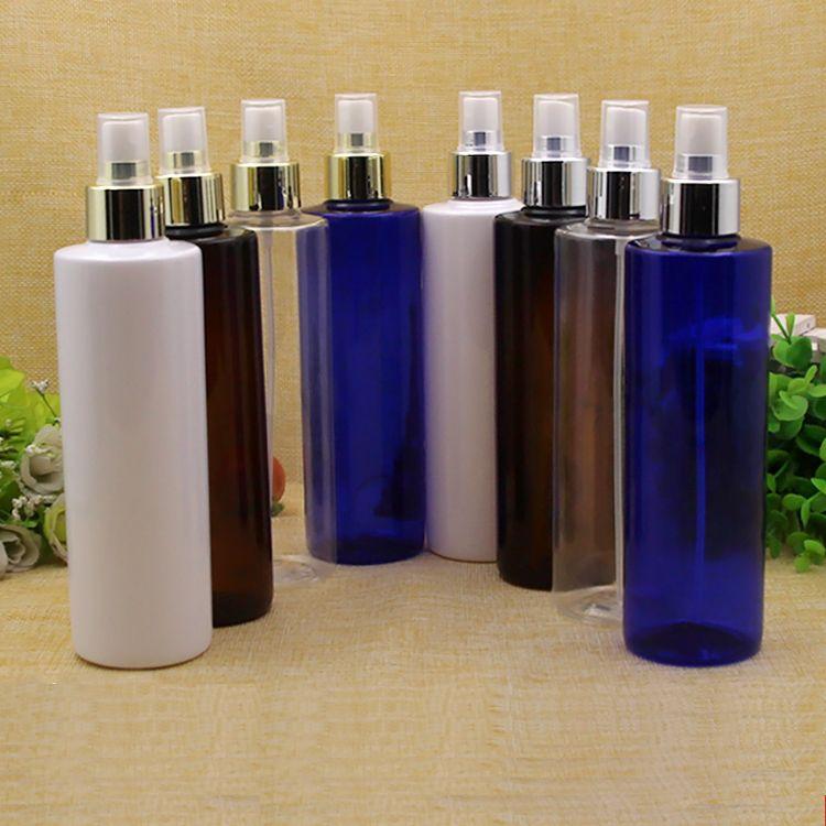 30pcs 250ml viaggio bottiglia di profumo portatile oro argento pompa a spruzzo bottiglie contenitori cosmetici vuoti 250 ml profumo atomizzatore vuoto di plastica