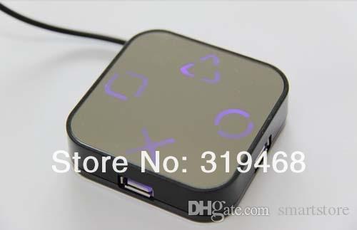640pcs / lot RA alta velocità 4 porte USB 2.0 Hub del cavo del divisore Magico Adattatore Specchio disegno di trasporto 0001