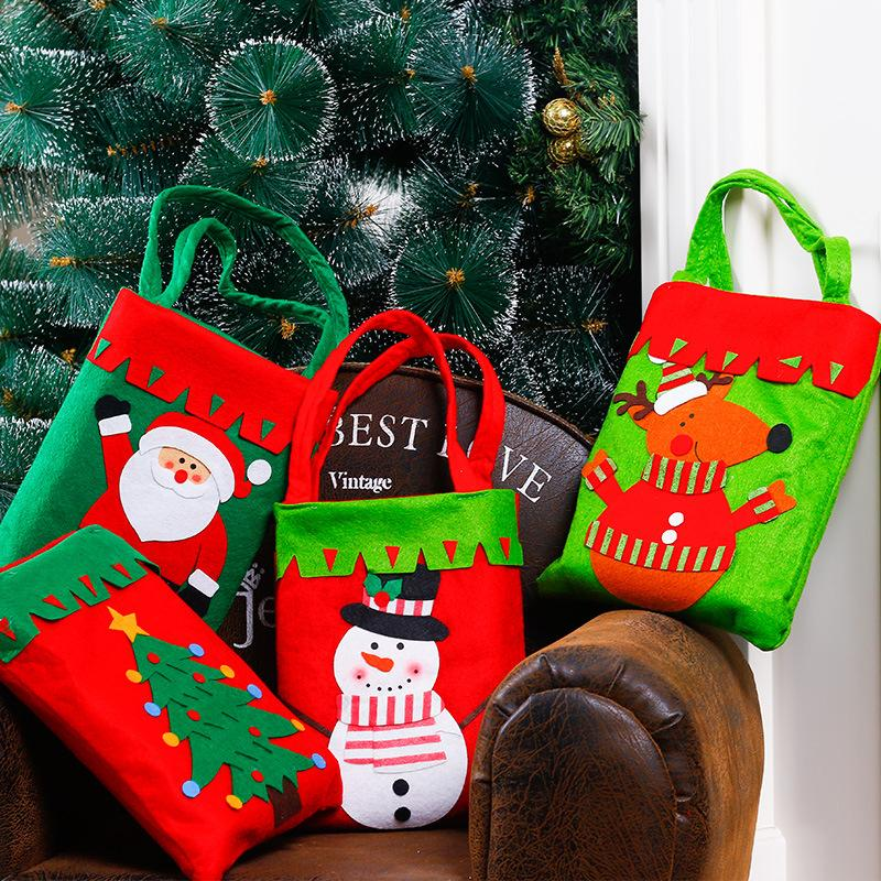 Christmas Santa Claus Tree Decor Xmas Gift Bag Candy Pouch Stocking Bags Handbag