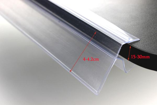 2019 Pvc Wood Glass Shelf Guardrail Bar Cover Label Banner Holder Strip Shelf Price Talker Strip Price Tag Label Holder Snap From Lucindawu 55 0