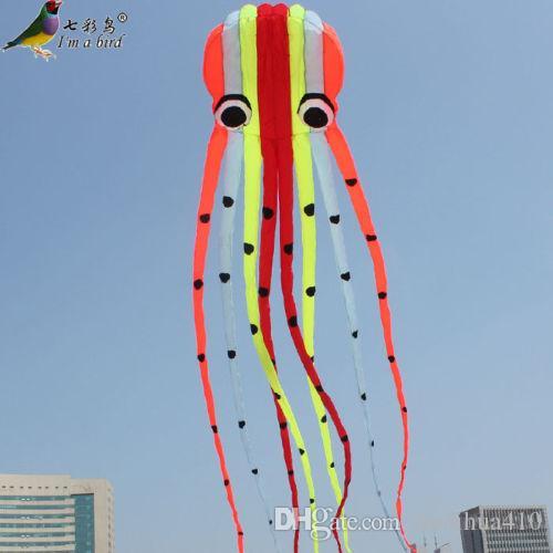 10m NOUVELLE ligne simple Stunt couleurs Parafoil Octopus POWER Kite Outdoor Jouets d'amusement