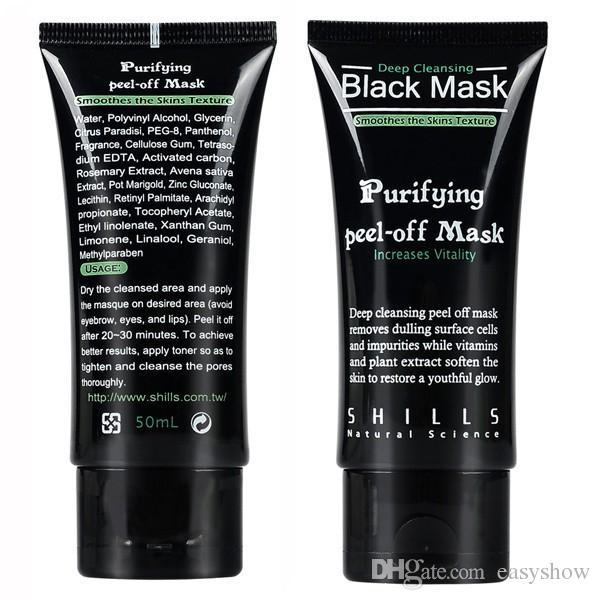 Ücretsiz Kargo SHILLS Derin Temizlik arındırıcı peel off Siyah çamur Facail yüz maskesi Yeni Siyah Nokta Kaldırma yüz maskesi 50 ml