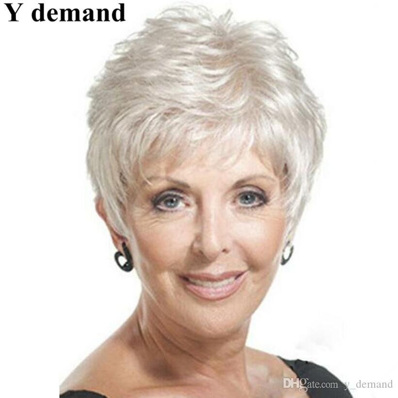 Fashion Afro Wig Short White Straight Synthetic Wigs Natural Hair For Black Women None Lace Hairstyle In Stock Short Hair Wigs With Bangs Cheap Black Wigs From Y Demand 8 05 Dhgate Com