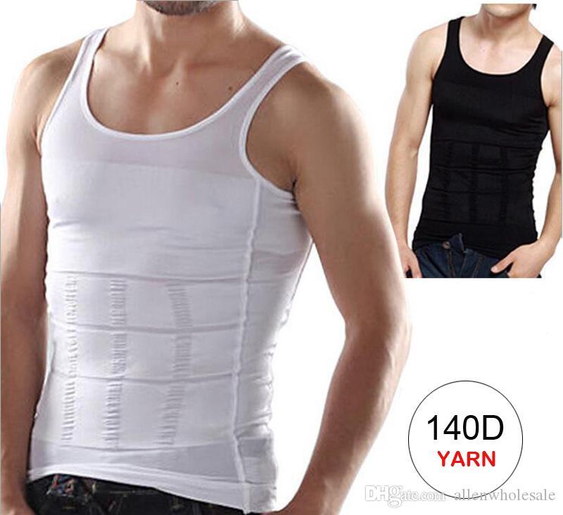 Slim Lift para hombres que adelgaza la camisa del chaleco Body Shaping Opp Bag Empaquetado 100pcs / Lot Envío gratuito