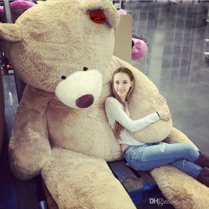 200CM Super Huge Teddy Bear (ONLY COVER) Plush Toy Shell (WITH ZIPPER) 79INCH Christmas Gifts Toy