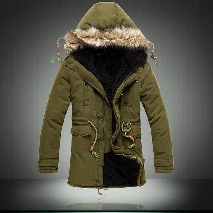 All'ingrosso LR Hot giacca Vendita invernali uomini Solid confortevole casuale lungo cappotto caldo di modo maschio imbottito con cappuccio inverno di usura spesso strato