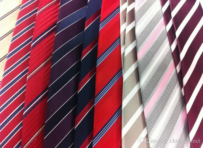 Lazos de los hombres de seda del color sólido liso mezclado corbata formal hombres corbata corbata hombres corbata 5 unids / lote # 1712