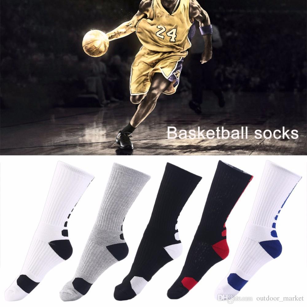 1 пара мужчин Профессиональный баскетбол носки дышащие Загустители Спорт на открытом воздухе Спортивный Спорт Велоспорт Эластичные носки