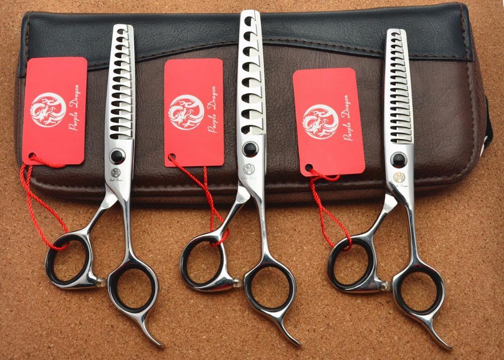 All'ingrosso 532 # 5.75 '' Marca Drago viola professionale di parrucchiere Scissors JP 440C di Barber 8/14/18 denti forbici d'assottigliamento dei capelli Cesoie
