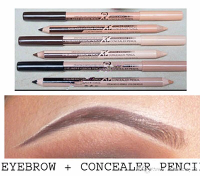Populaire Hot 48pcs Wholesales / lot eye Maquiagem front Menow maquillage double fonction Sourcils Crayons Correcteur MAQUILLAJE
