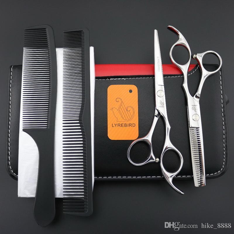 Lyrebirdの髪の切断または間引きされているはさみやセット6インチシルバーレギュラー美容院ヘアはさみを剪断する優秀な新品