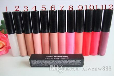 핫 무료 배송 새로운 메이크업 립 립글로스 브릴리언트 립글로스 4.8g 12 가지 색상 좋은 품질의 영어 색상 이름