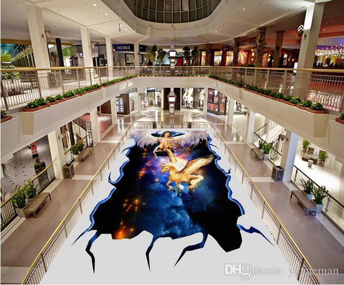 Custom 3d Floor Murals Step Ladder Wreath 3d Floor Painting For ...