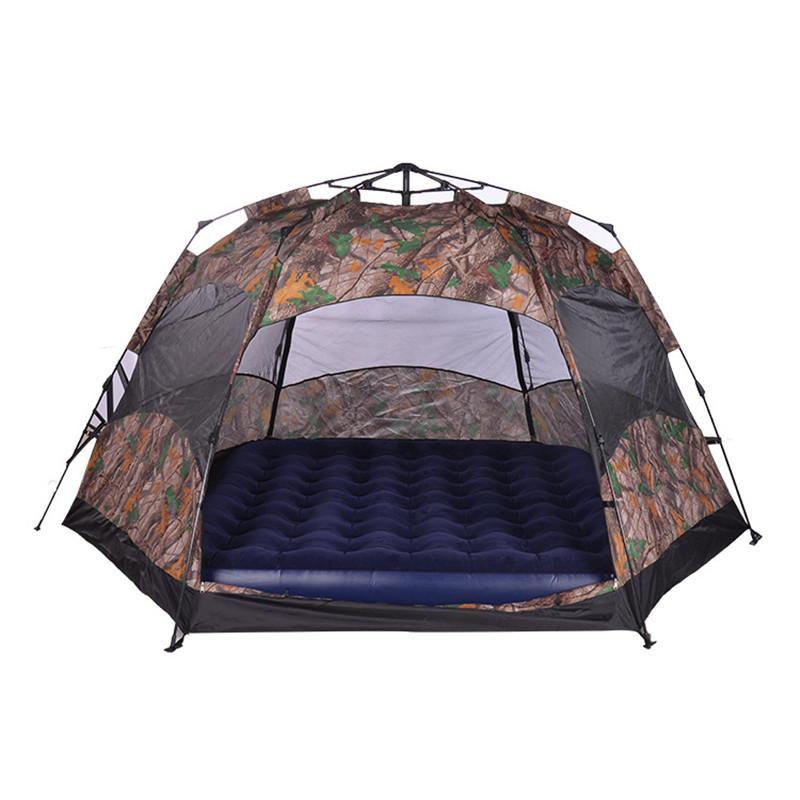 Wholesale- Wnnideo 4 명 야외 자동 인스턴트 더블 레이어 방수 캠핑 텐트