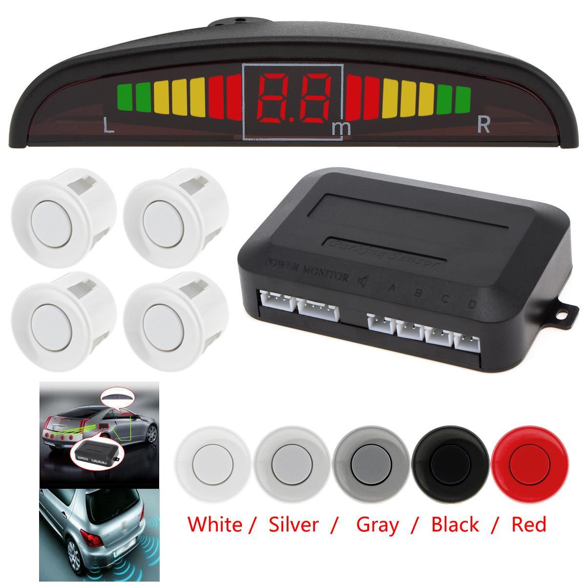 1 Set Verkaufs-Auto-Auto Einparkhilfe LED-Parken-Sensor Ultraschall-Rückunterstützung Sensoren Radar-Detektor-Kit mit Hintergrundbeleuchtung Display-CAL_200