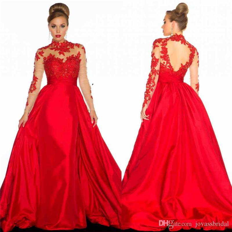 2017 Celebrity Oscar Red Carpet Gown Sexy Mermaid Red Long ...