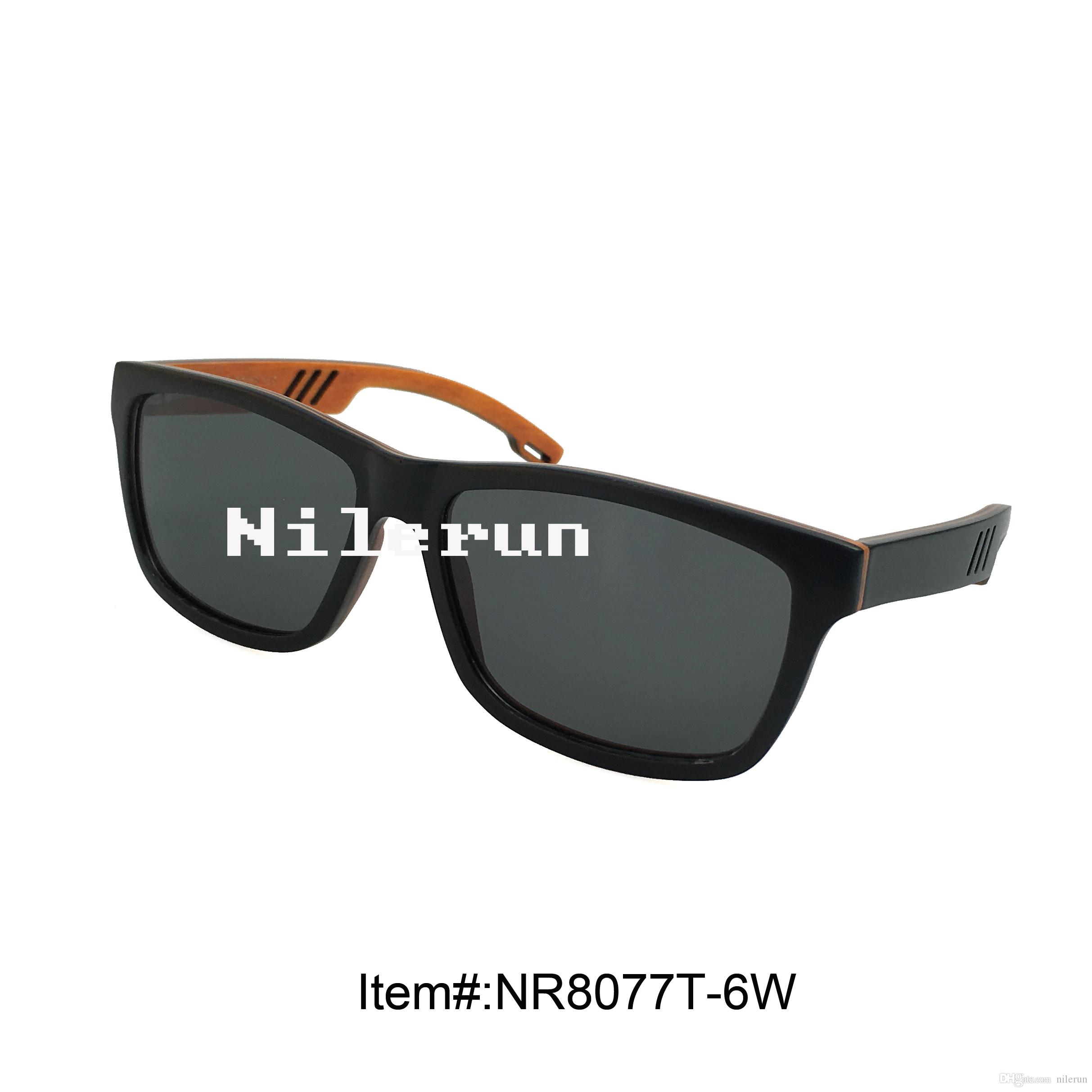oyuk oyma tapınaklar ile süper hafif ince siyah kaykay ahşap güneş gözlüğü