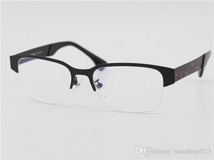 Marca-2017 Bule Gafas de Grau miopía Anteojos Marco de miopía Hombres Gafas de Ojo Gafas de Mujer Japón Marca Marco Óptico 48mm