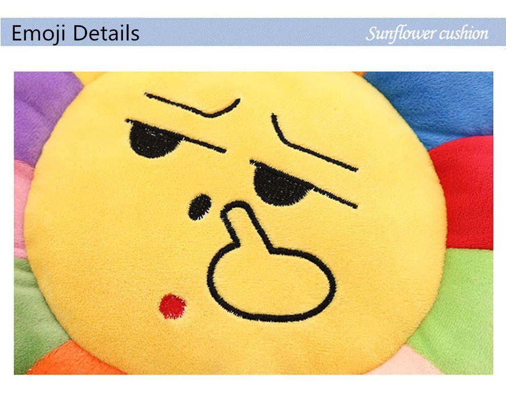 Emoji Cartoon Throw Pillow Sunflower Laugh Emoticon Pillows – Sunflower Chair Pads