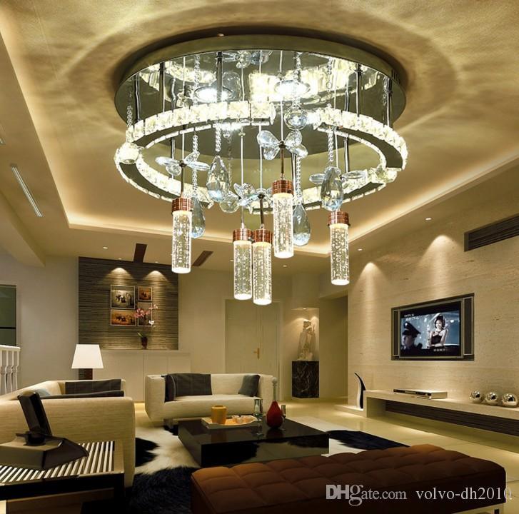 neue LED-Kristalllinie Ausschnittlichter, Kreiswohnzimmer, Esszimmer, Studienschlafzimmer, moderne Saugdeckenlampen, freies Verschiffen LLFA