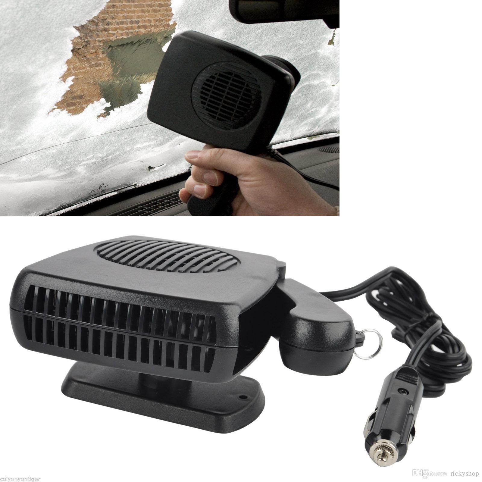 2in1 Car Portable Ceramic Heating Cooling Dry Heater Fan Defroster Demister 12V