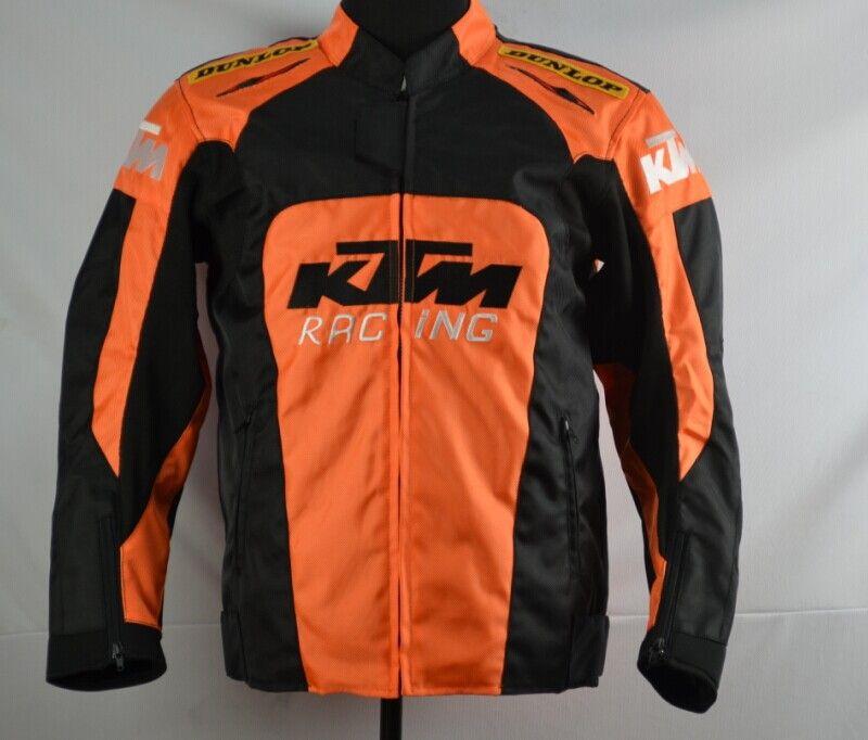 Nova KTM motocicleta de volta apoio Corrida jaqueta roupas oxford moto jaqueta tamanho grande com tamanho equipamento de proteção M para XXXL
