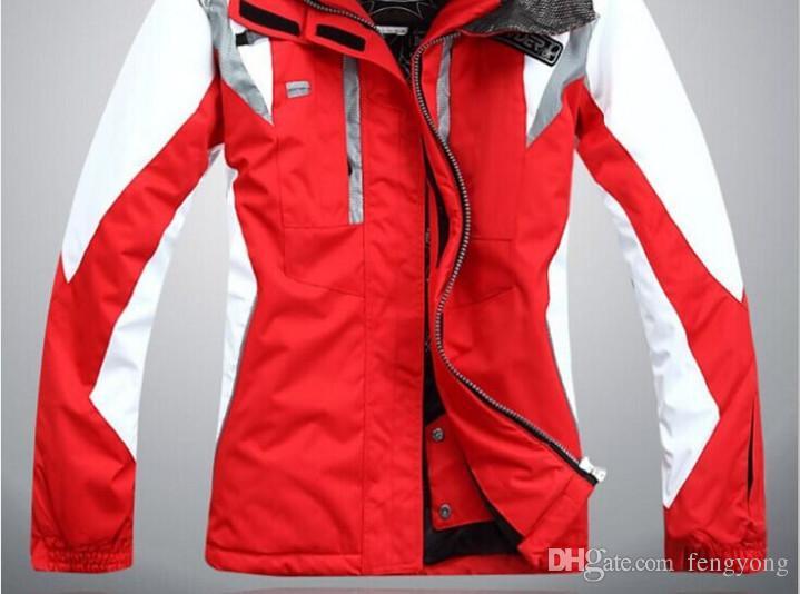 2018 НОВЫЙ Высокое качество открытый спортивная одежда лыжная куртка женщин лыжный костюм ветрозащитный водонепроницаемая одежда для лыжного спорта Бесплатная доставка