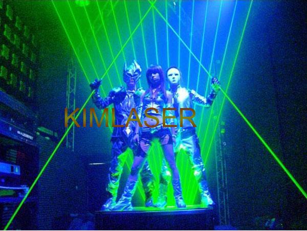 2W Green Laser with free flight case for LASER MAN/Dance Laser