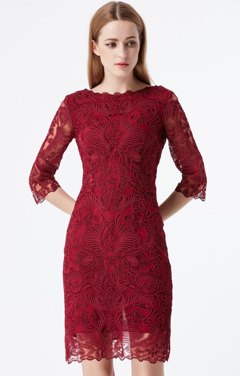 Großhandel Luxus Frauen Spitze Etuikleid V Rückenausschnitt 16/16 Ärmel Mini  Kleider 16A16 Von Ellian, 166,016 € Auf De.Dhgate.Com  Dhgate