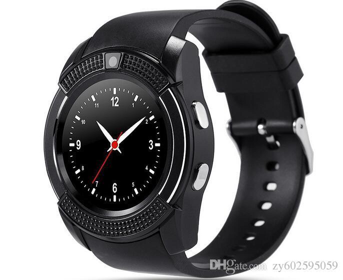 V8 Smart Watch Bluetooth mira Android con 0.3M Cámara MTK6261D DZ09 GT08 Smartwatch para teléfono Android con paquete al por menor