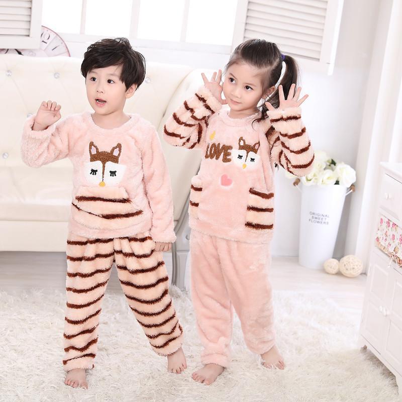 Kindstraum 2017 Winter Children Flannel Pajamas Boys &Amp; Girls ...