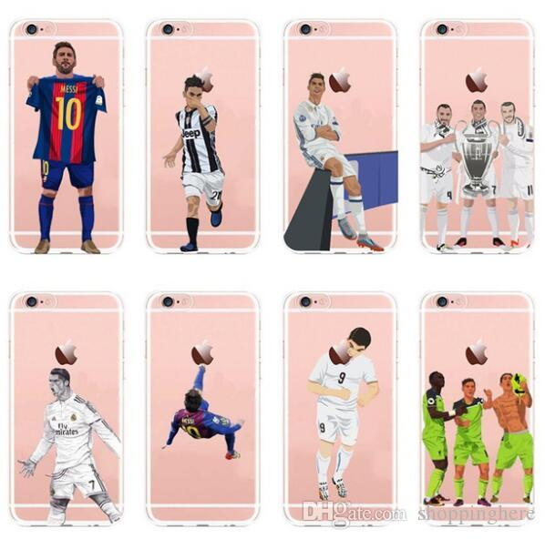 the best attitude c66a7 864a1 Football Soccer Star Cristiano Ronaldo Lionel Messi Paulo Dybala Soft Clear  Transparent TPU Case For IPhone X 10 8 7 6 6s Plus 5S 5C Covers Spigen ...