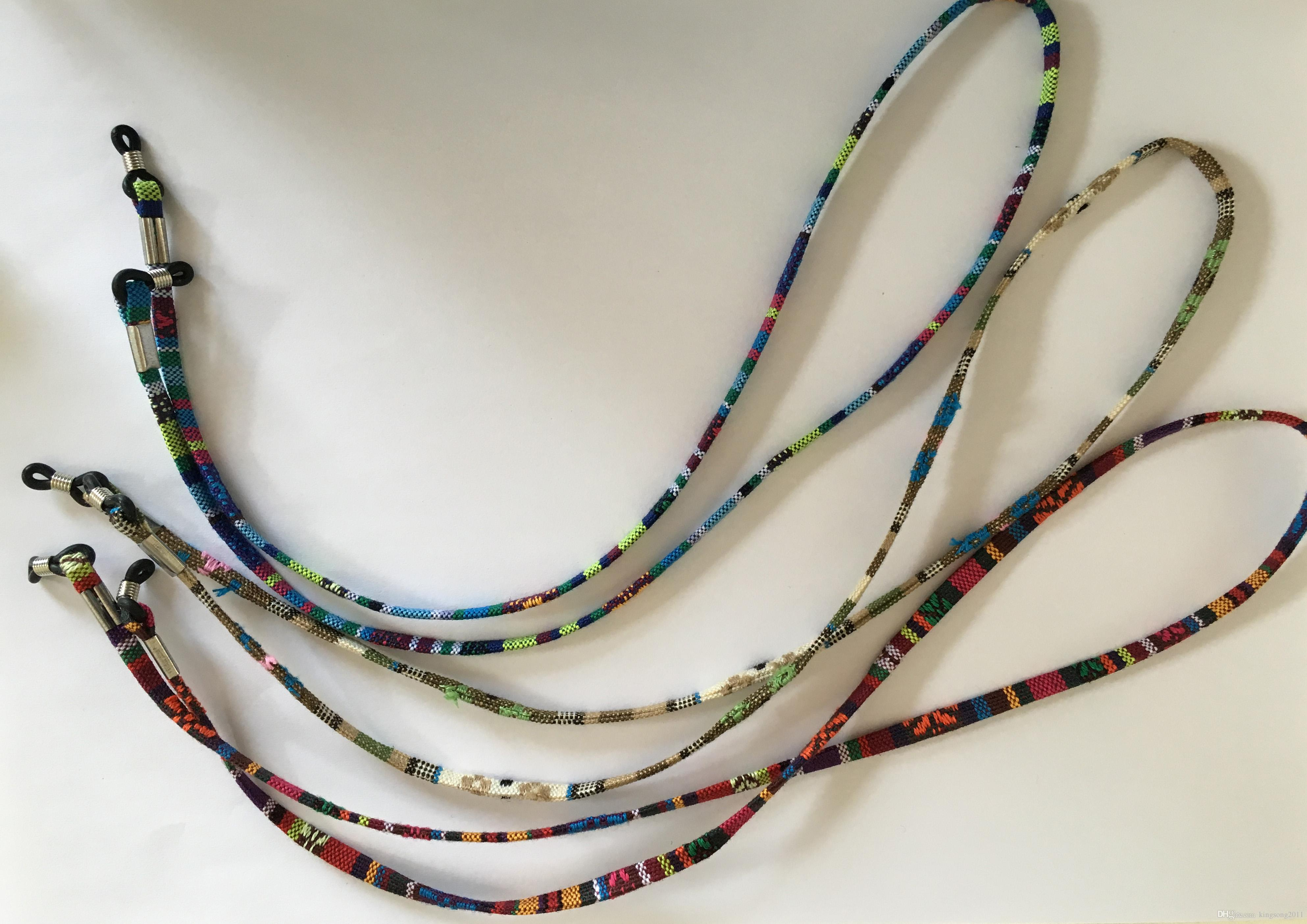 12 pçs / lote eyeglass cordão de algodão étnico espetáculo corda eyewear retentor sunbath sunglass colhedor