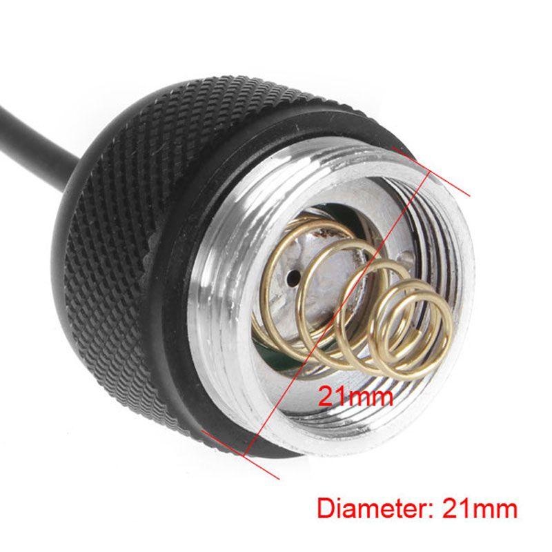 Toptan - Ultrafire CREE WF-502B LED el feneri Torch Işık LEF_963 İçin Siyah 21mm Çap Uzaktan Basınç Anahtarı