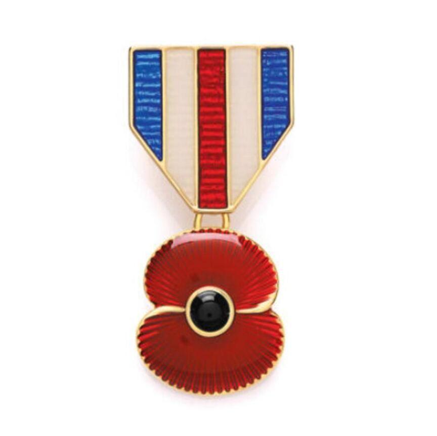 Insignia esmeralda roja plateada oro de la broche botones Obsequios británicos del día de la conmemoración