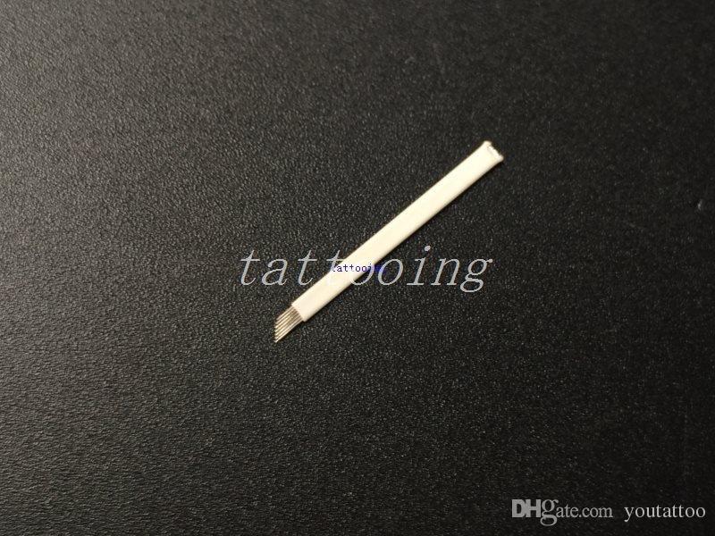 100 Pcs 9 Aiguilles Permanent Maquillage Manuel Sourcils Tatouage Stylo Lames Pour 3D Sourcils Broderie Microblading