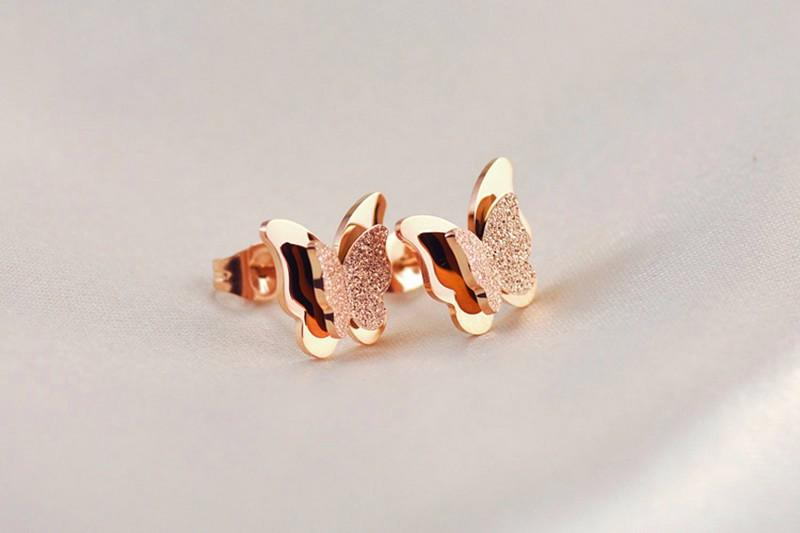 18K-Ros-Gold-Earrings-For-Women-And-Girls-Stereo-Frosted-Double-Butterfly-Animal-Earrings-Studs-Christmas-Gift-2015 (8)