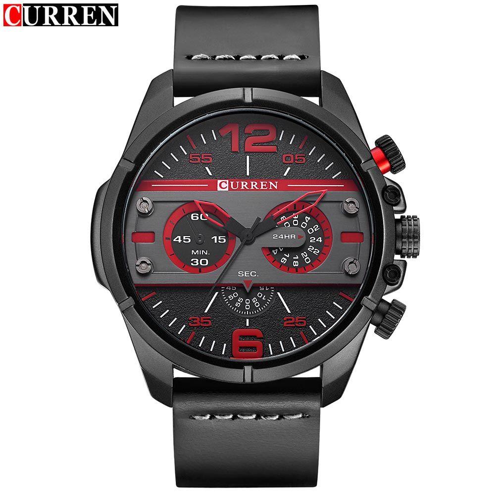 Compre Reloj De Pulsera De Cuarzo Con Correa De Cuero Impermeable Para Hombre De La Marca Original Curren De Alta Calidad 8259 A 11 5 Del Zichen080514 Dhgate Com