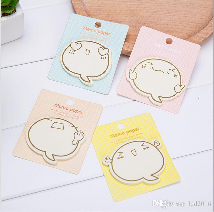 Sıcak satış kawaii kırtasiye yapışkan bloknot pedleri sevimli karikatürler yapışkan not ofis karalama defteri gündem çıkartmalar 8 * 9 cm