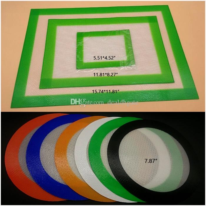Non-stick bho siliconen dab mat pad potten gladde dabber voor bakken was droog kruid soulton glazen concentraat mats pads FDA goedgekeurd
