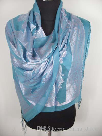 Shinning 100% zijden sjaals sjaal ponchos sjaal sjaal wraps 12pc / lot # 3004